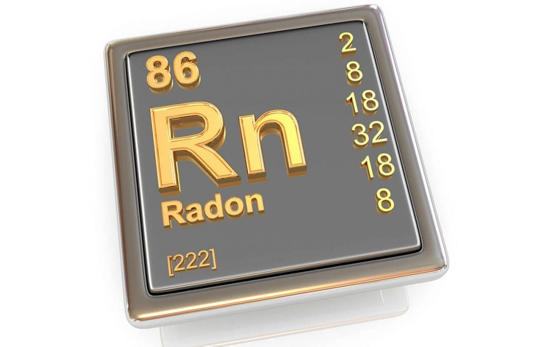 test to know the levels of radon in the home